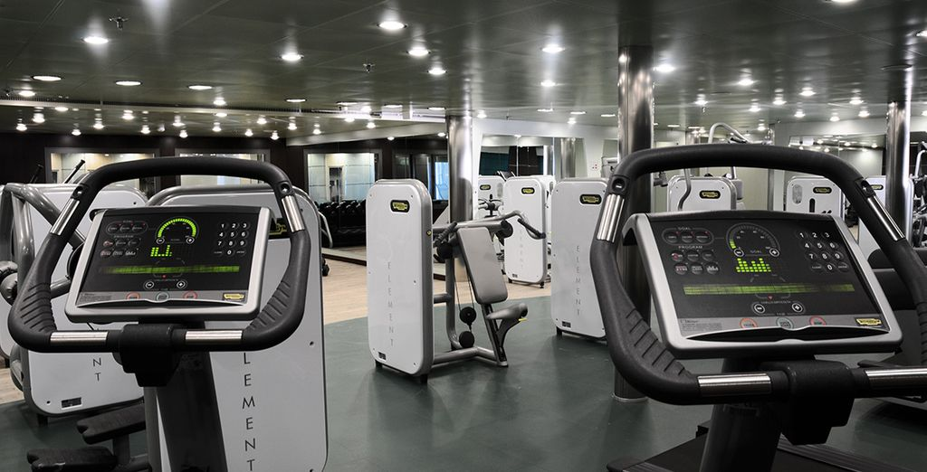 It also has a fitness center with Technogym machines latest technology