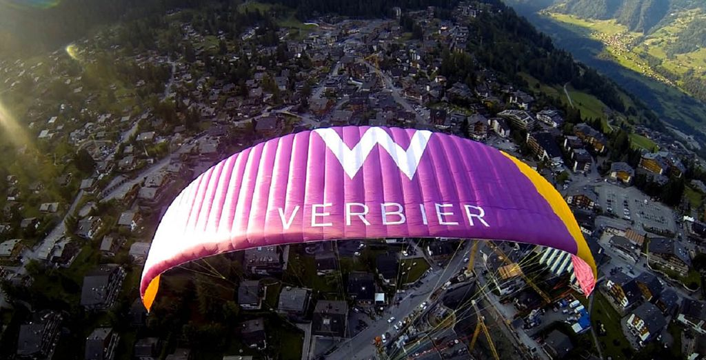 Paraglide through the mountains