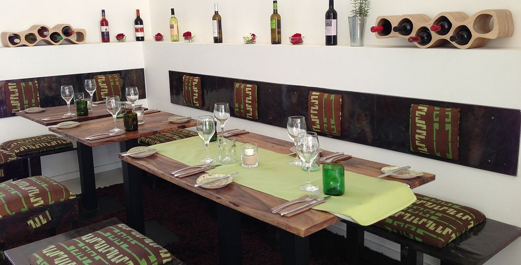 Head to the restaurant for delicious vegetarian or organic meals