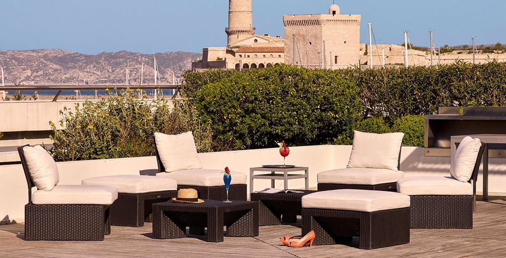 Top up your tan on the rooftop