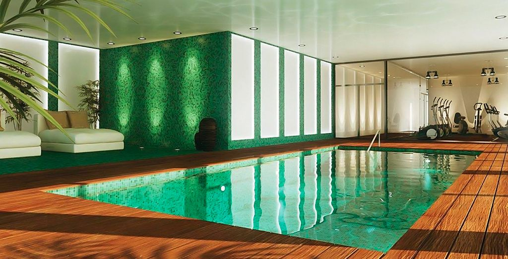 Indulge with a dip in the hotel pool