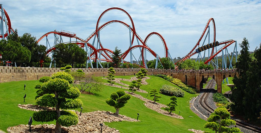 Visit the famous PortAventura fun park nearby
