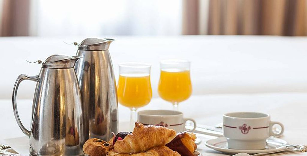 Breakfast is served daily