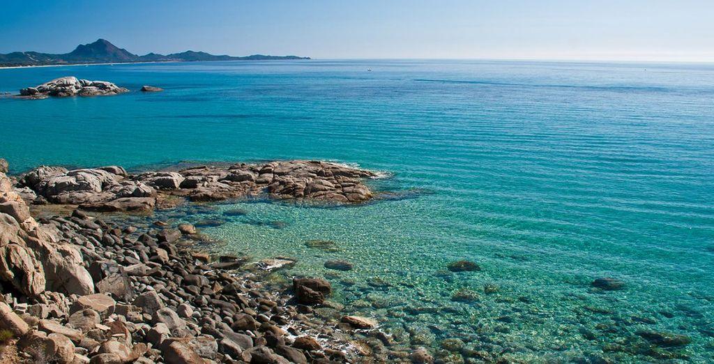 The rich blue sea