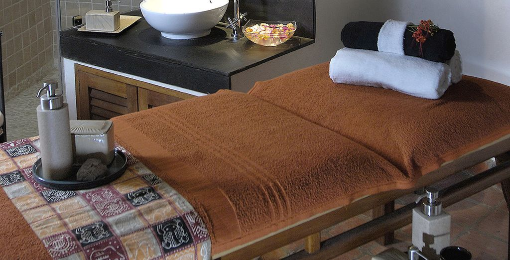 Or indulge after your long flight with a full body massage