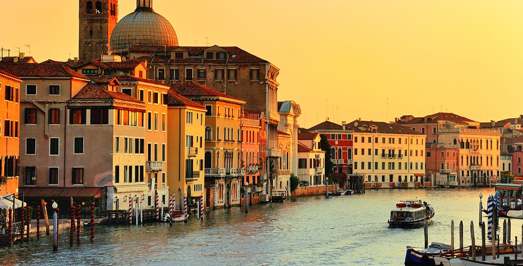Sail up the Grand Canal to explore the treasures of the city
