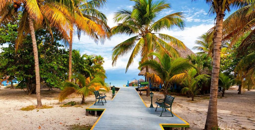 And discover a beach paradise
