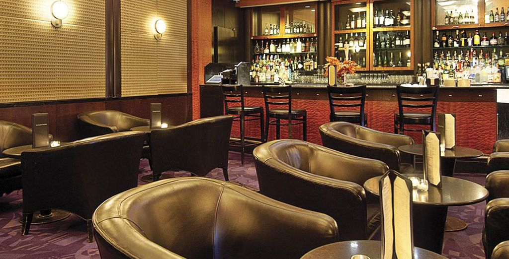 Relax in the hotel's bar after sightseeing