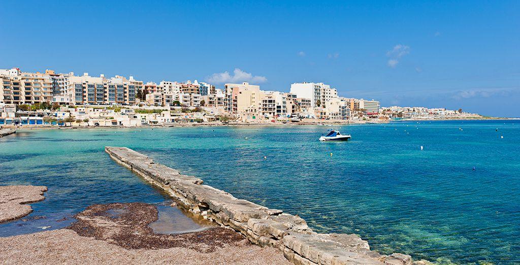 In the sunny Maltese resort of St Paul's Bay