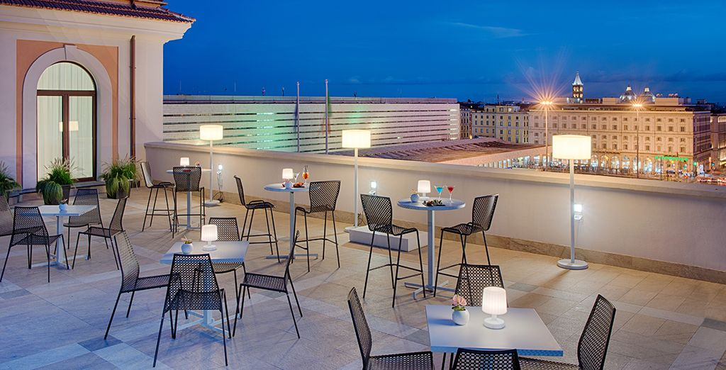Enjoy an exceptional view from the roof terrace