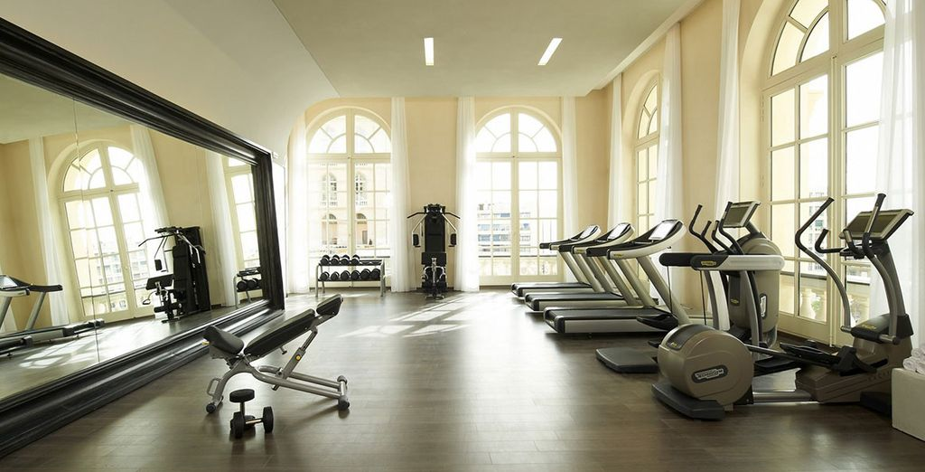 Enjoy an invigorating work out in the gym