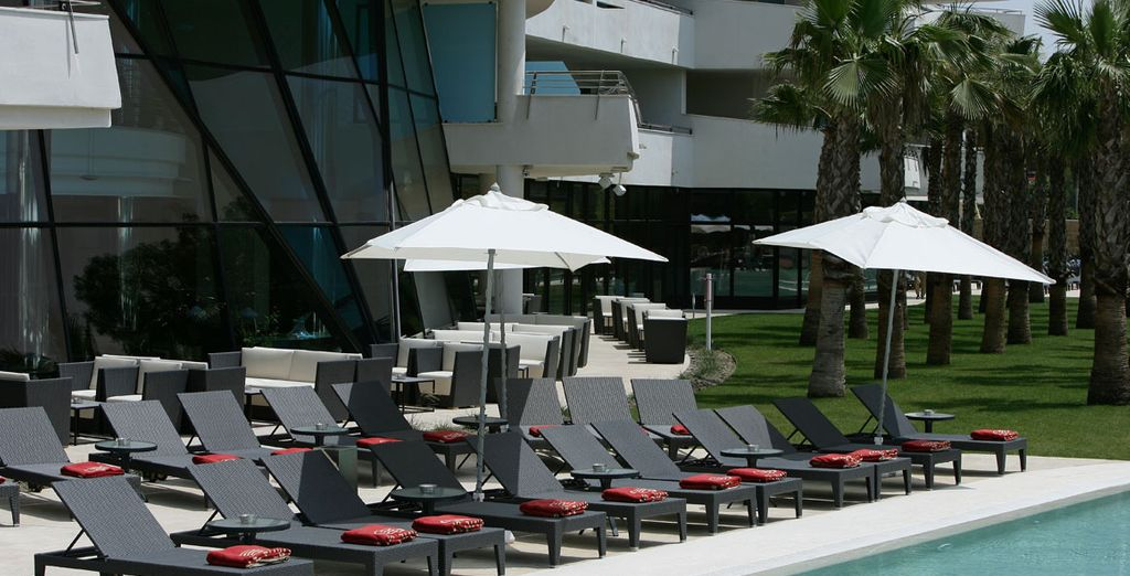 The hotel offers an abundance of places to relax