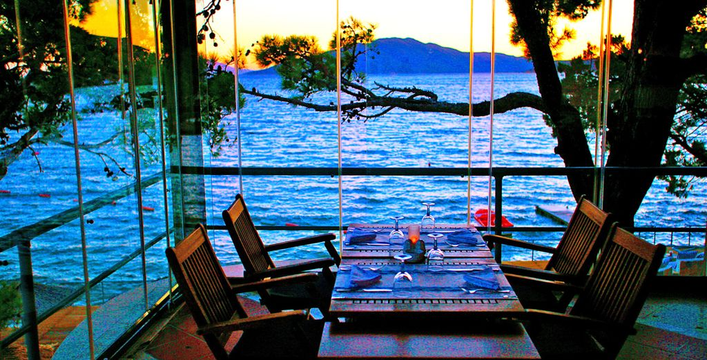 And choose between a selection of idyllic restaurants