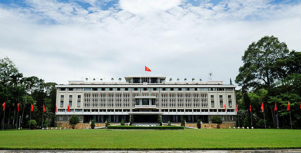 Visit historic sights like Reunification Palace