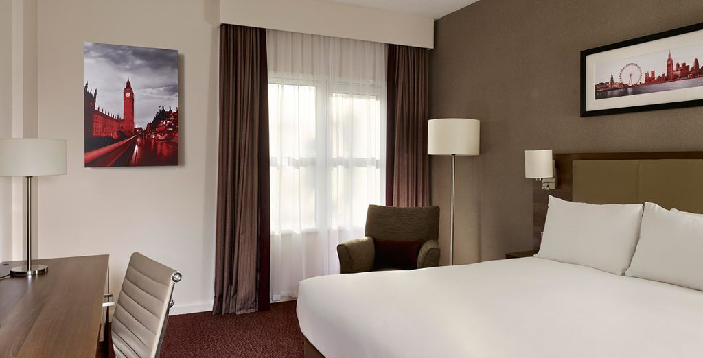 Your room will be soft and sumptuous