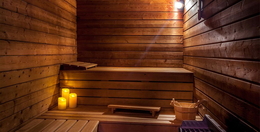 Or in the sauna
