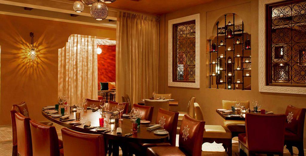 Enjoy your upgrade to Half Board at the restaurants around the resort