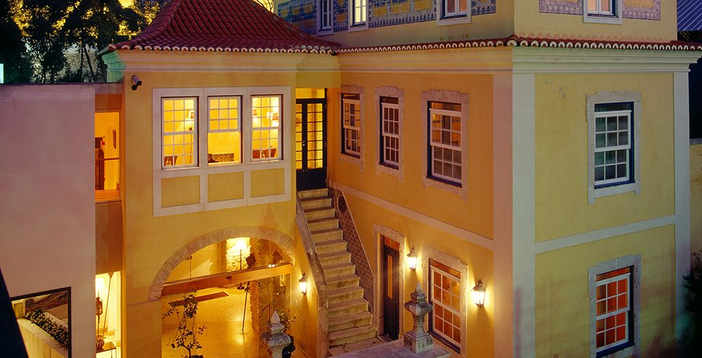 A romantic boutique hotel