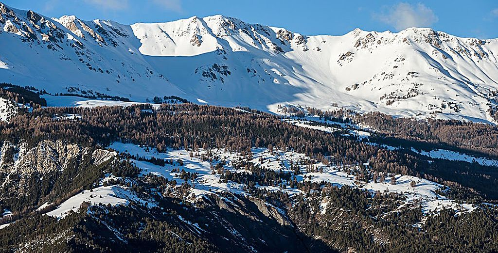 This is Pra Loup, one of France's most popular and largest ski resorts