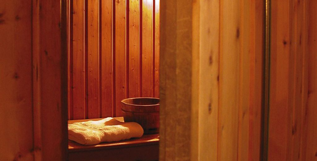 Relax in the sauna after a day on the slopes