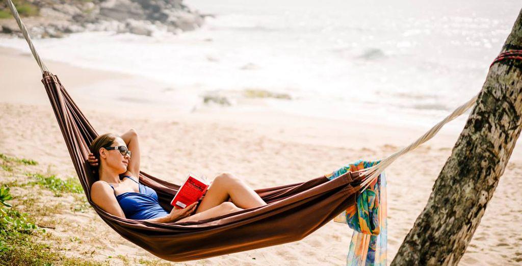 Take a nap in a swinging hammock