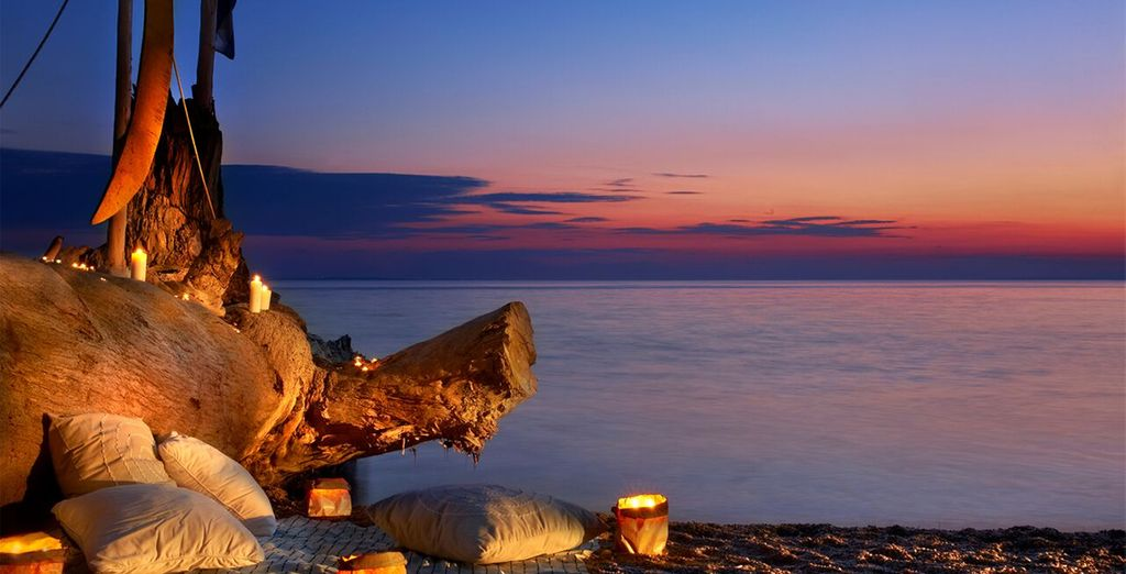 Or enjoy a romantic candlelit picnic on the beach