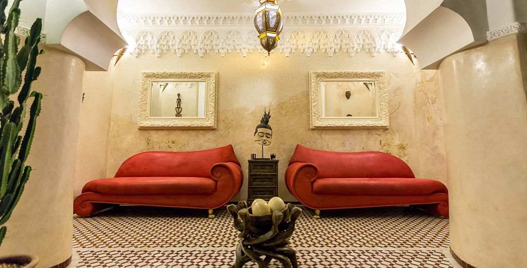 A hotel with traditional Moroccan craftsmanship