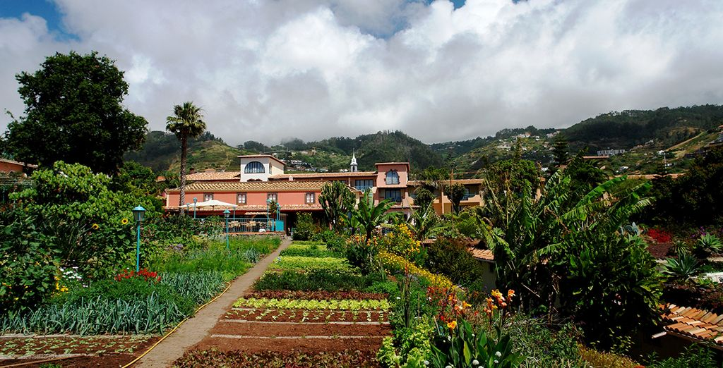 Much of which is grown in the hotel's own vegetable garden