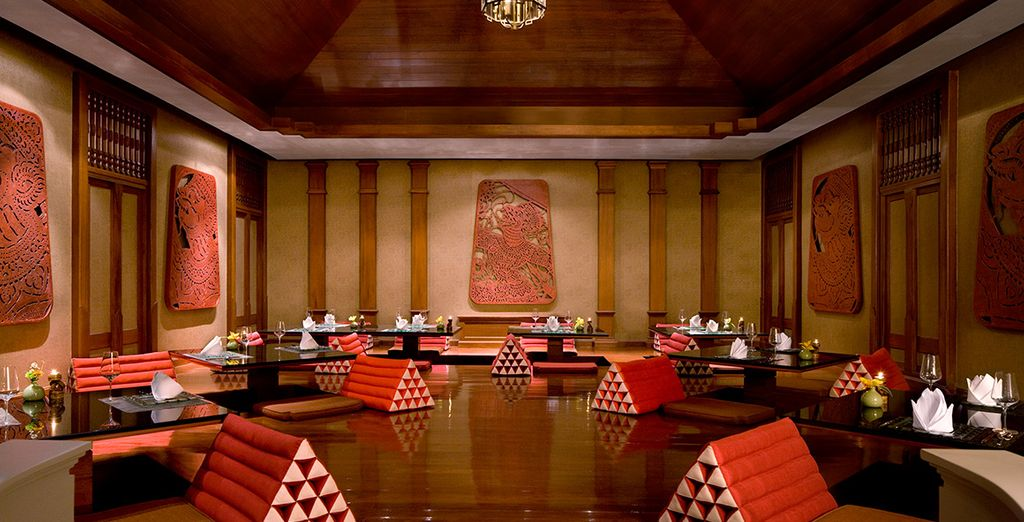 Sample the delicious cuisine in oriental surroundings