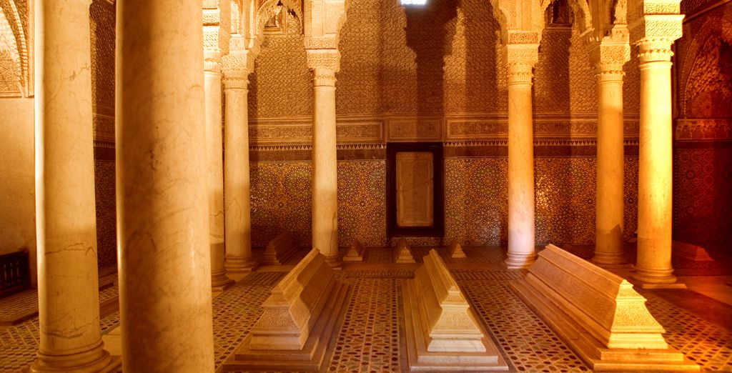 And the Bahia Palace and the Saadian Tombs