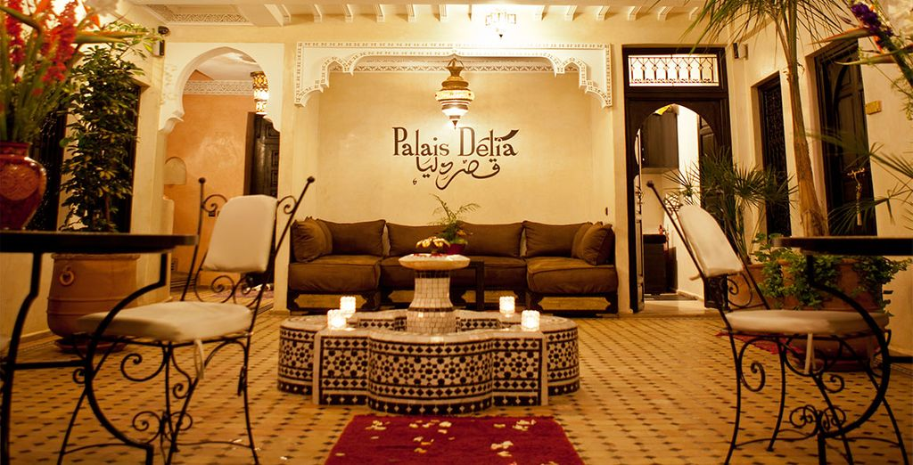 Enjoy sun-filled days and relaxing evenings in a pretty courtyard at a traditional riad