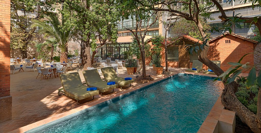 Or cool off with a dip in the pool, in warmer weather