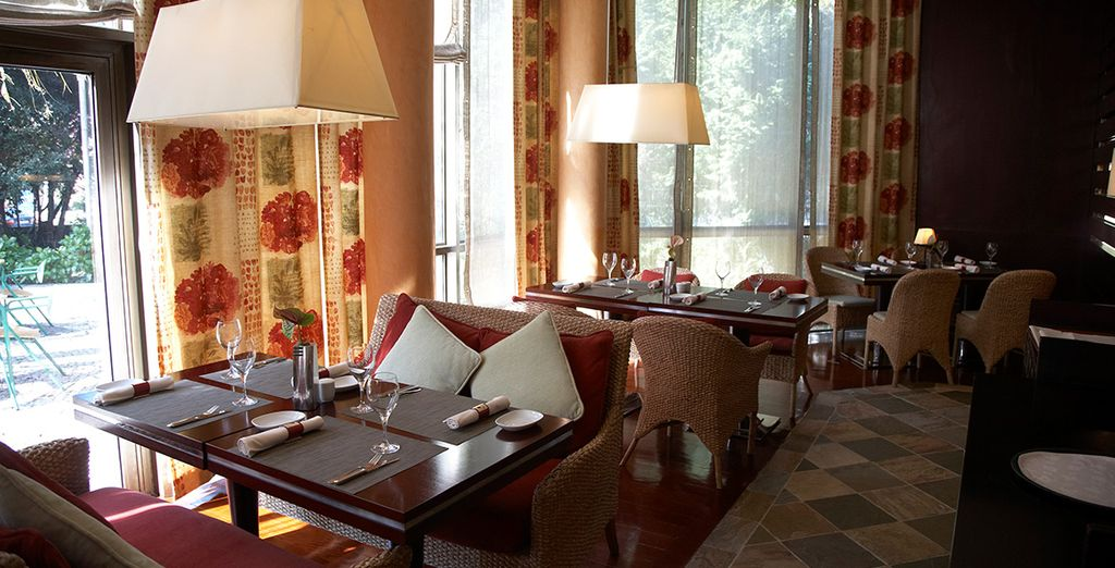 Or a sumptuous evening meal at the restaurant