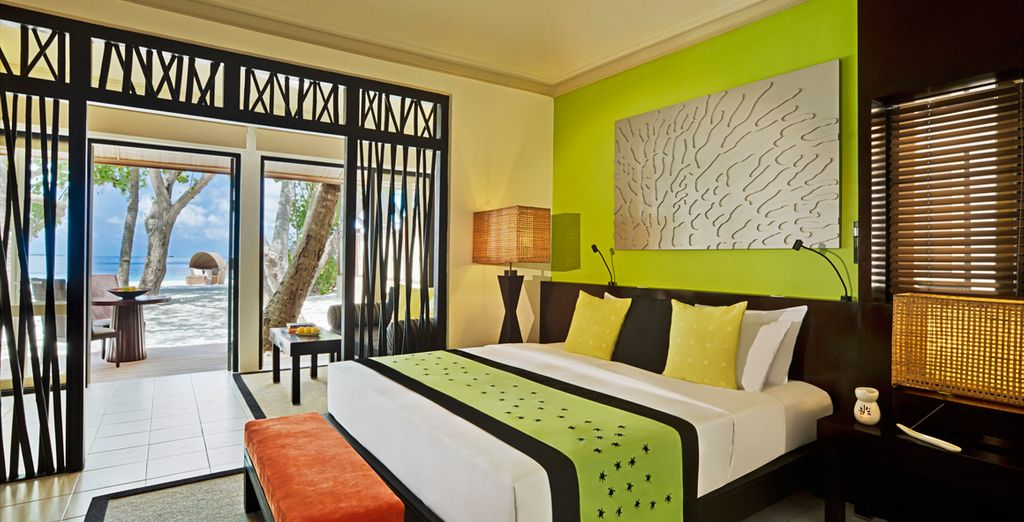 Sleep in a vibrantly decorated and spacious villa