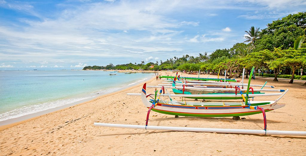 Next we will whisk you away to the beaches of Nusa Dua