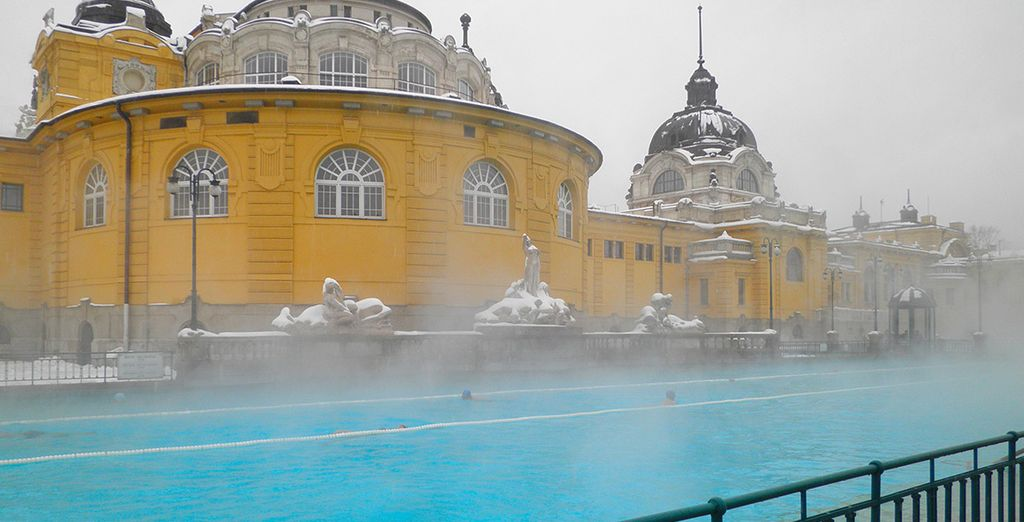 Warm up in the steaming hot thermal baths