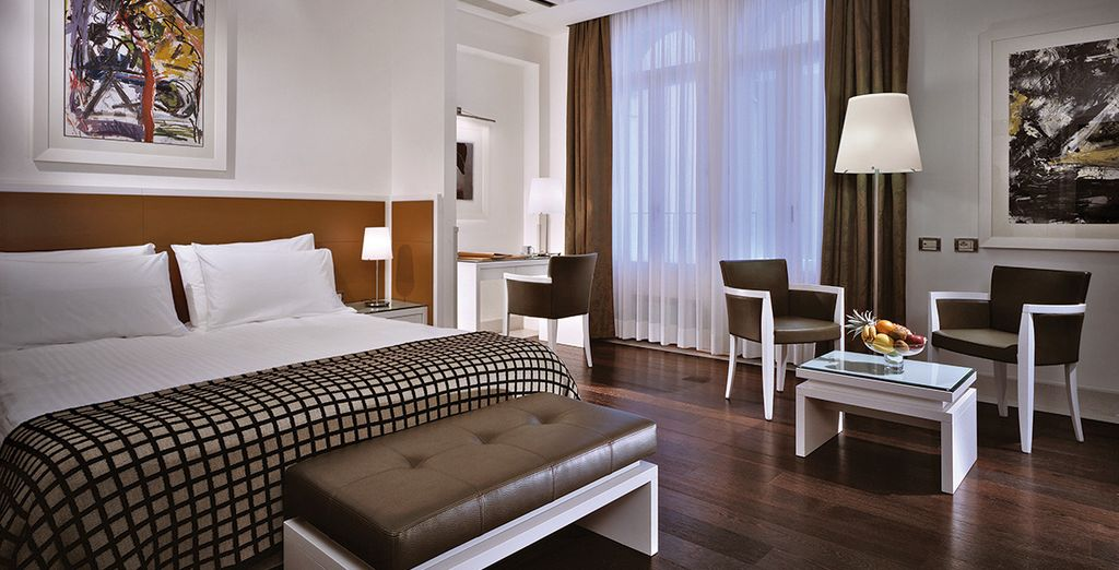 Enjoy the luxury of a Deluxe Room