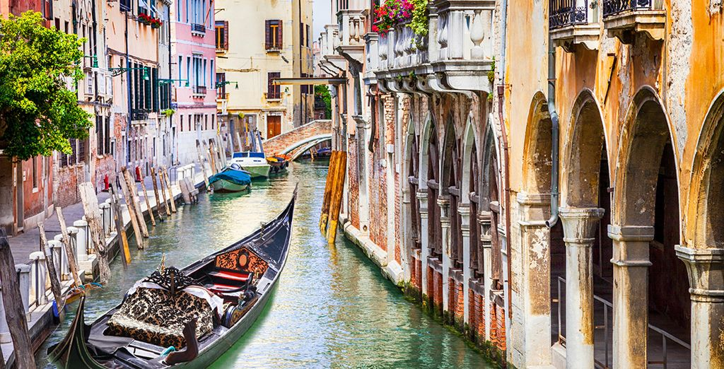 Through the romantic winding canals