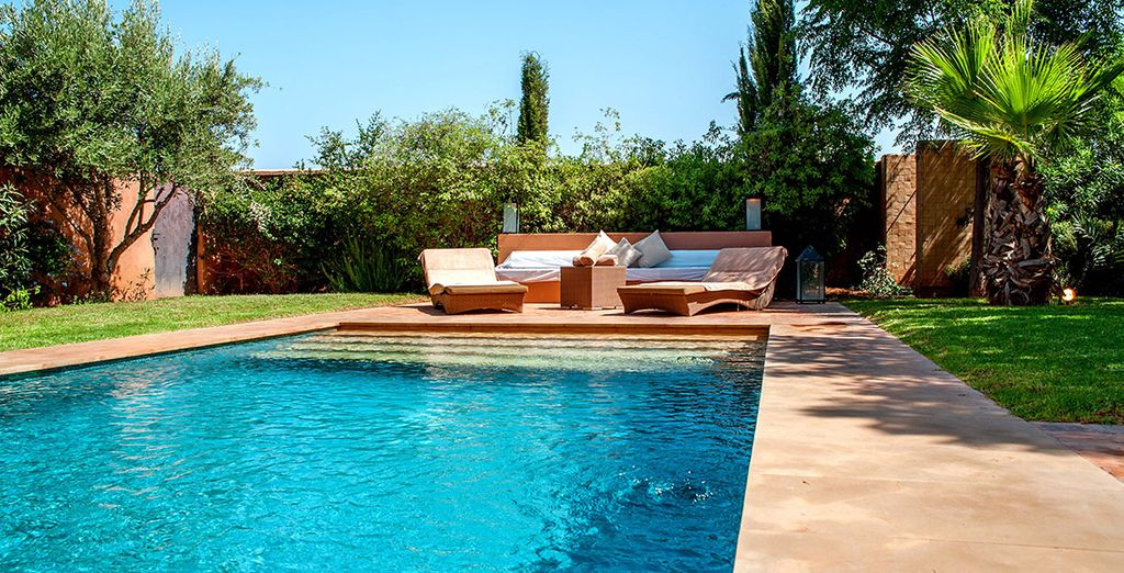 And of course, its own private pool