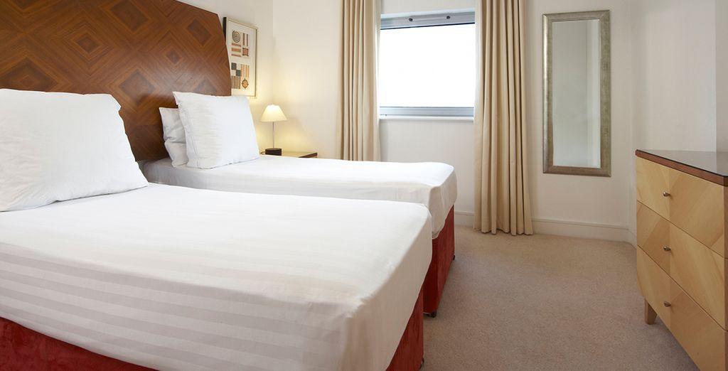 Choose between twin or queen beds