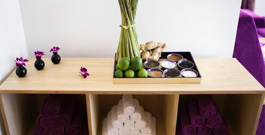 Experience the healing powers of local herbs and spices in your spa treatments