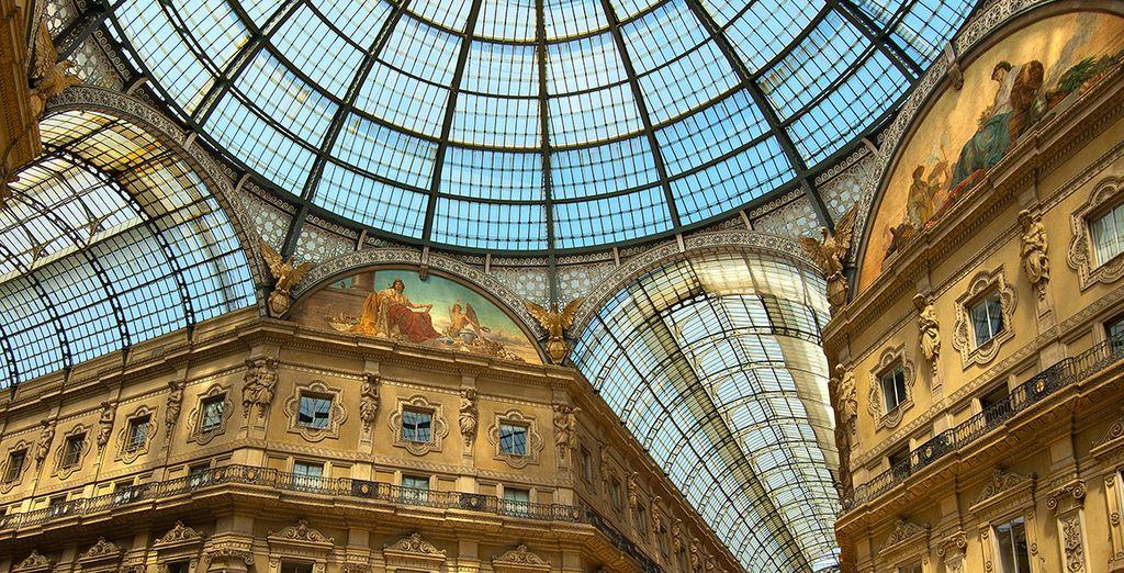 Splurge on designer goods at the Galleria Vittorio Emanuele II