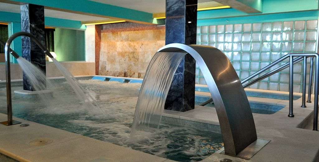 With upscale spa facilities