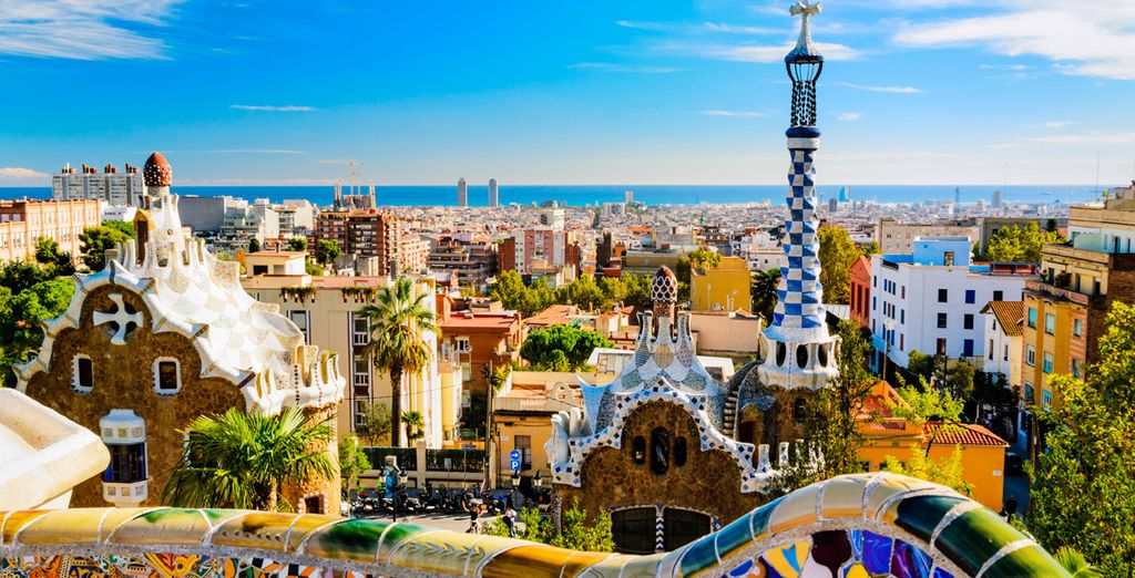 The fascinating Parc Güell where you can view the entire city of Barcelona