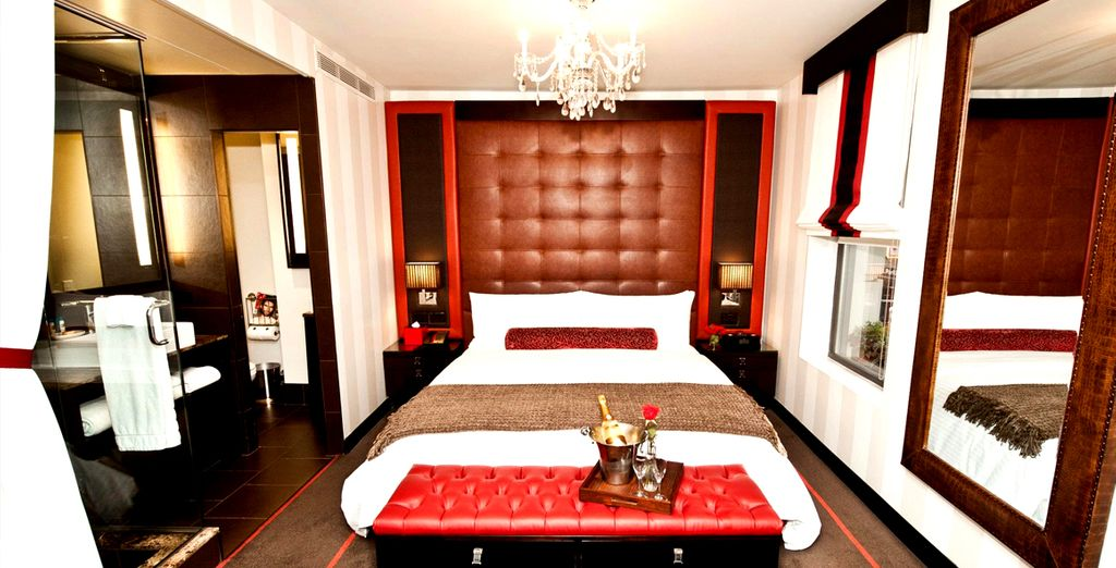 Stay in a superior room in a queen bed
