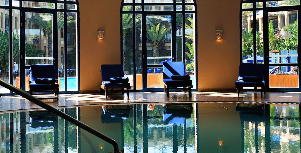 Take a dip in the indoor pool