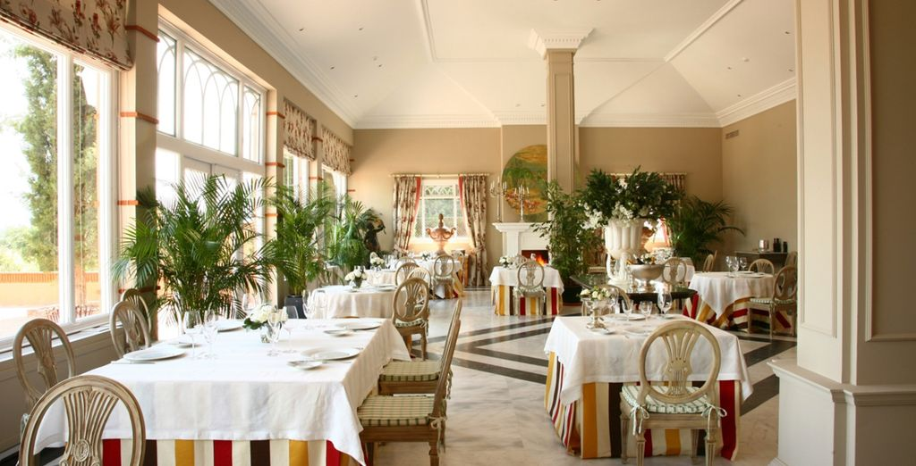 Tuck into your meals amongst bright and fresh surroundings