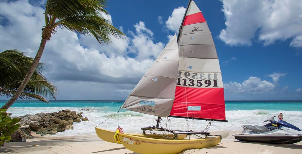 You'll have a range of watersports to choose from