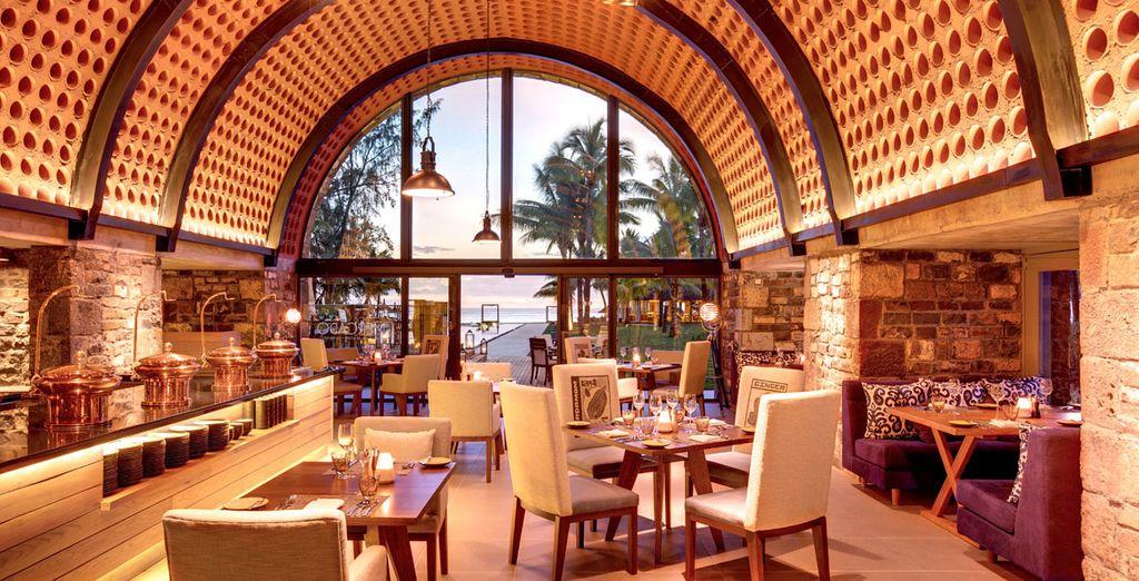 Dine in the stunning restaurant
