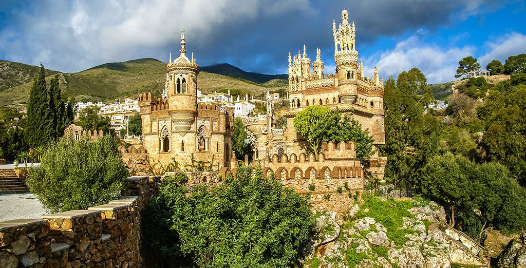 Add car hire and explore this areas lesser known gems (pictured: Colomares Castle)